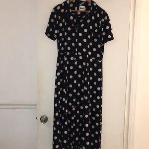Black and white poka dot Dress ankle length